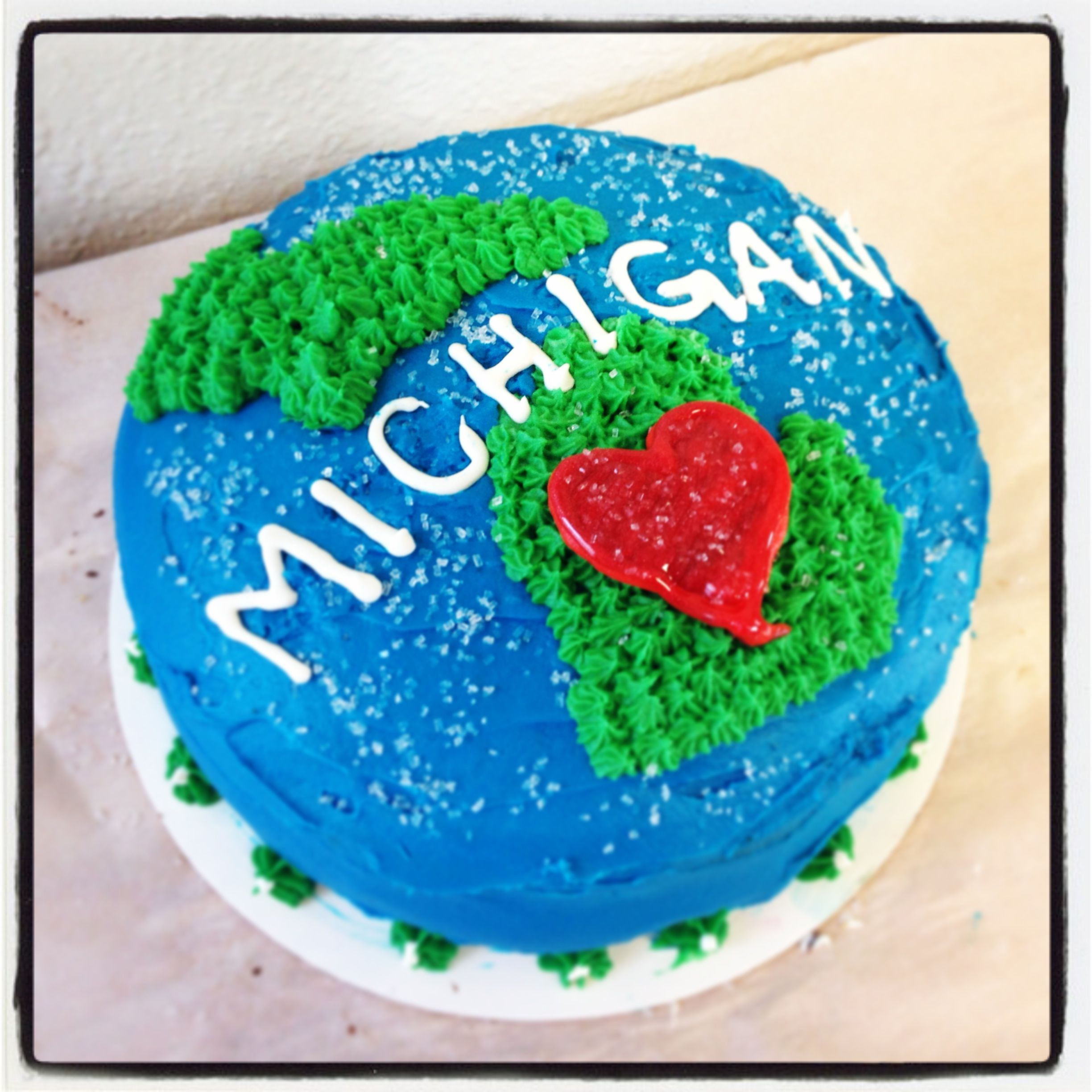 Love Pure Michigan Cake