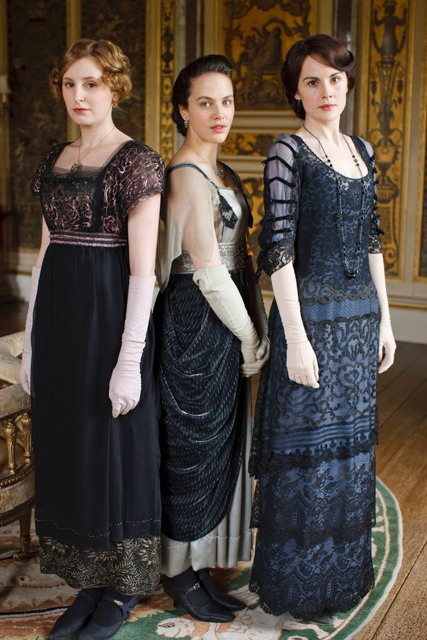 Lady Edith, Lady Sybil and Lady Mary - the three daughters of Lord and Lady Grantham.  #downtonabbey