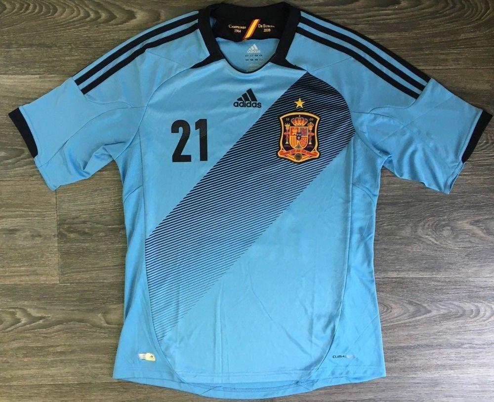sale retailer 5172c be2e7 David Silva Adidas Jersey Shirt Football Soccer Spain Patch ...