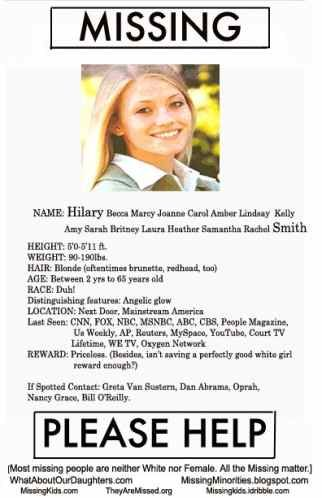 missing people Media Bias on Reporting Missing People MISSING - missing persons template