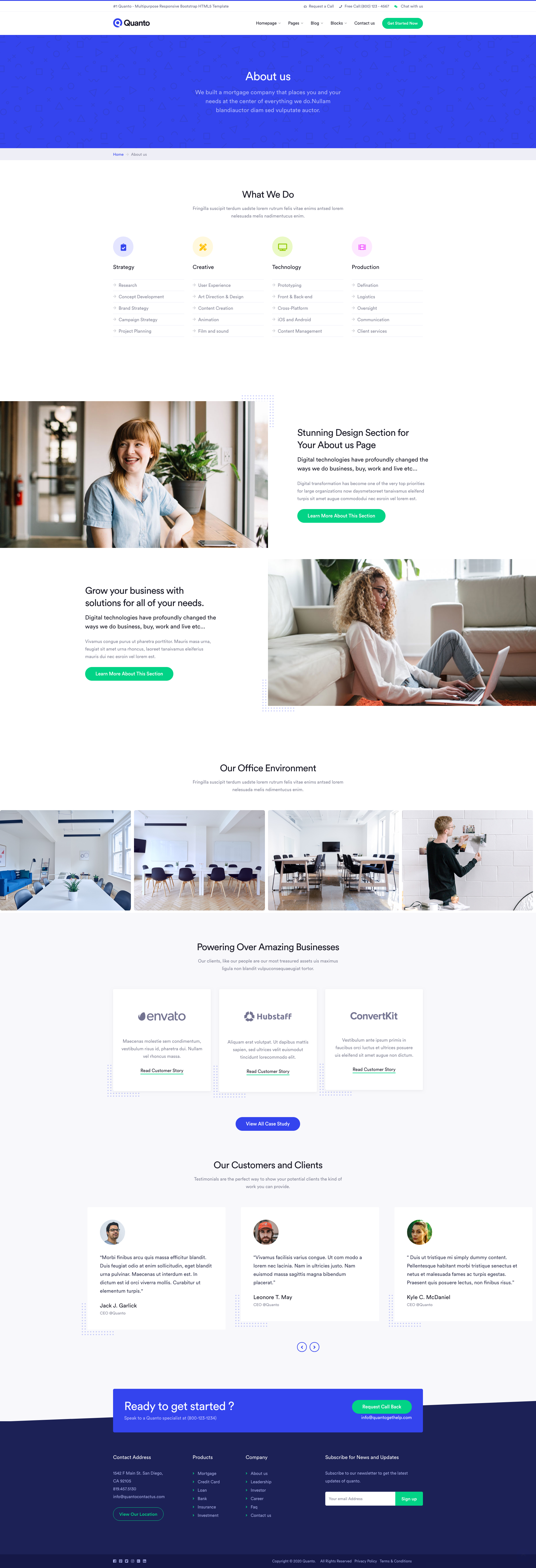 Quanto Creative Multipurpose Responsive Html Template Html Templates Page Layout Design Html Website Templates