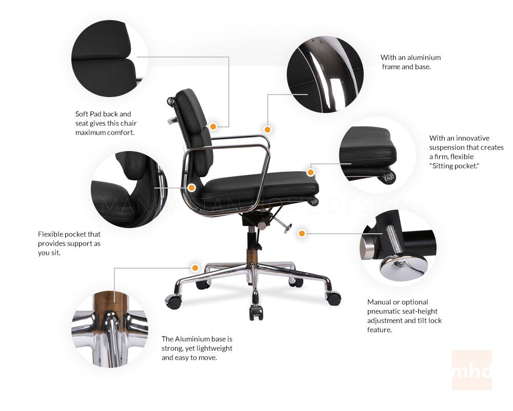 Eames Office Chair Soft Pad Management Chair Eames Office