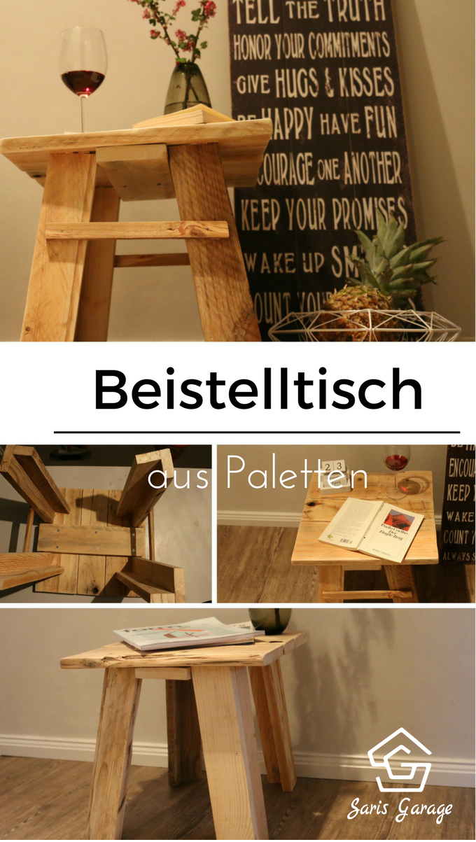 beistelltisch holz beistelltisch diy beistelltisch selber machen palettenm bel diy how to. Black Bedroom Furniture Sets. Home Design Ideas