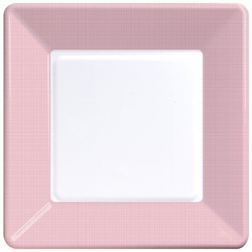 7 Square Paper Plates with Border Texture - Classic Pink Pink Square Plates]  Wholesale Wedding Supplies Discount Wedding Favors Party Favors ...  sc 1 st  Pinterest & Creative Converting 9.125\