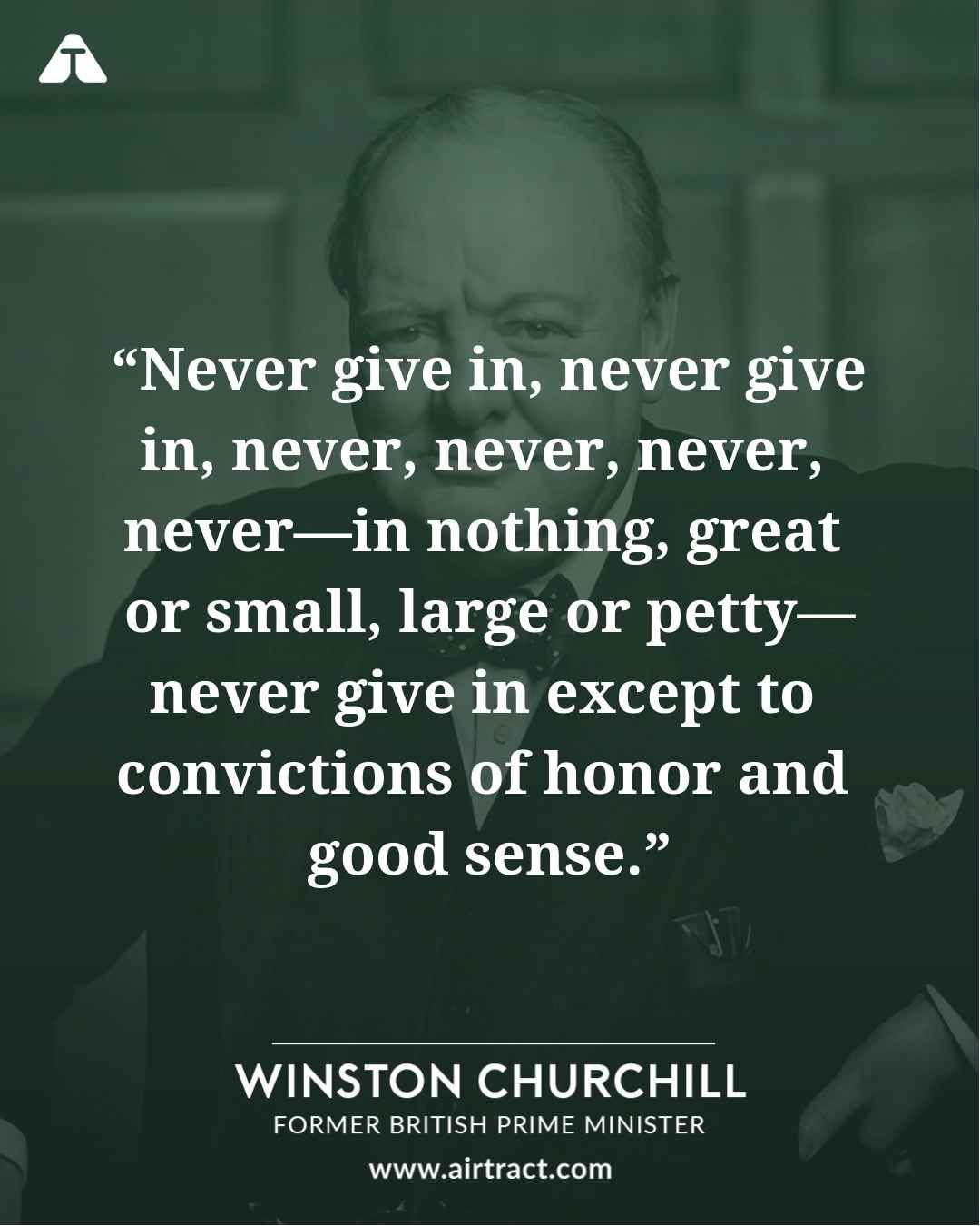 Never Give In Never Give In Never Never Never Never In