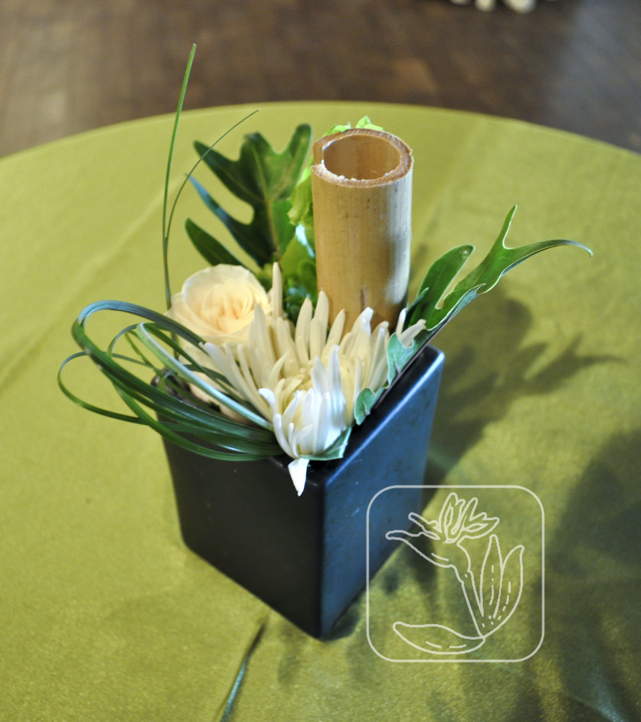 Utah Wedding/Event Bistro Table Centerpiece (White And