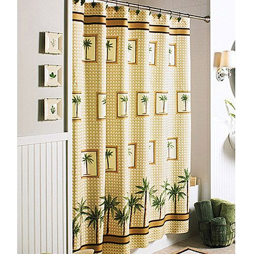 Better homes and gardens palm shower curtain - Better homes and gardens shower curtains ...