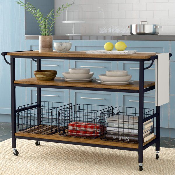Laurel Foundry Modern Farmhouse Fresnay Kitchen Island with Wooden ...