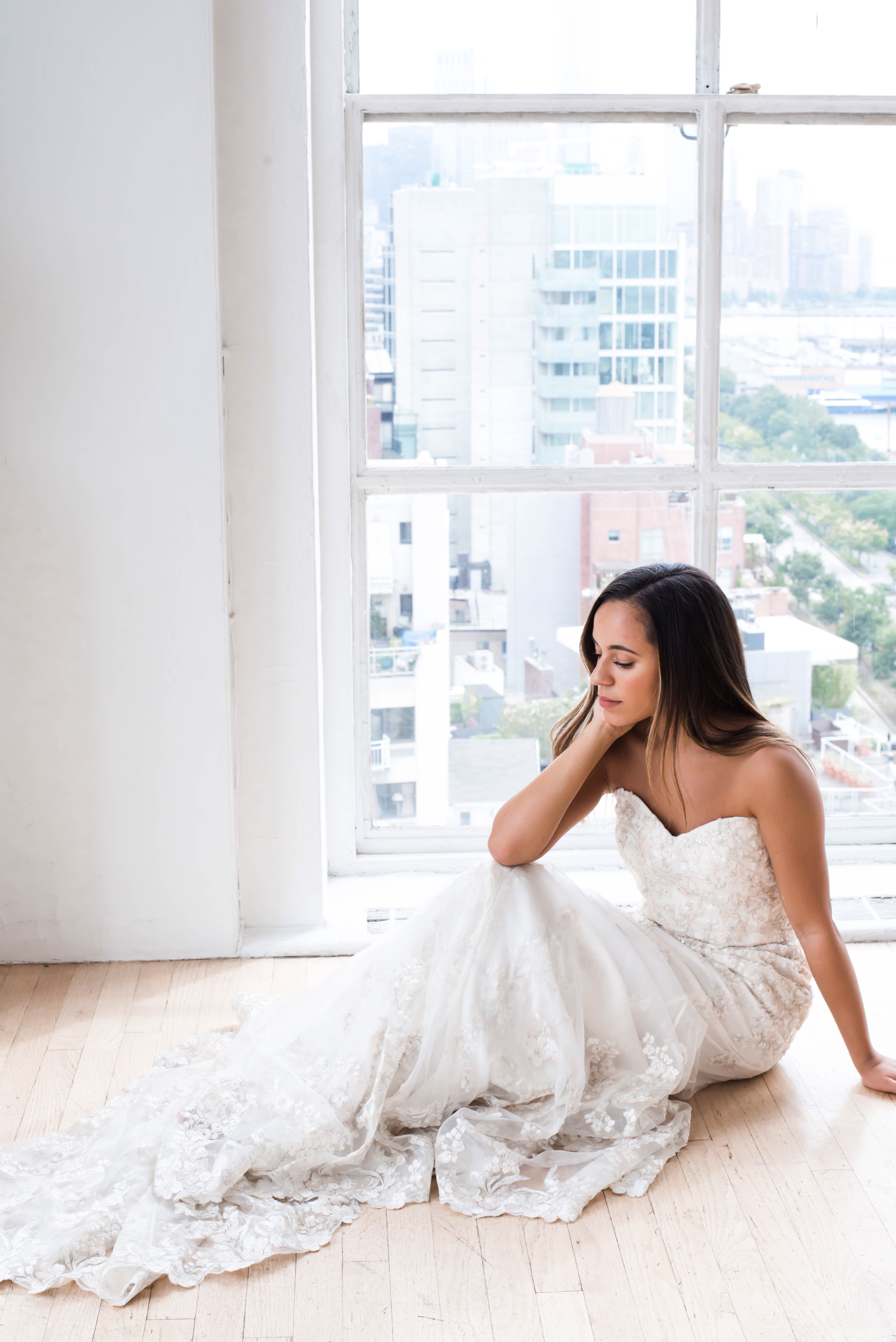 Slim fit wedding dresses  Jenny Yoo Bridal The Alessandra wedding gown features a strapless