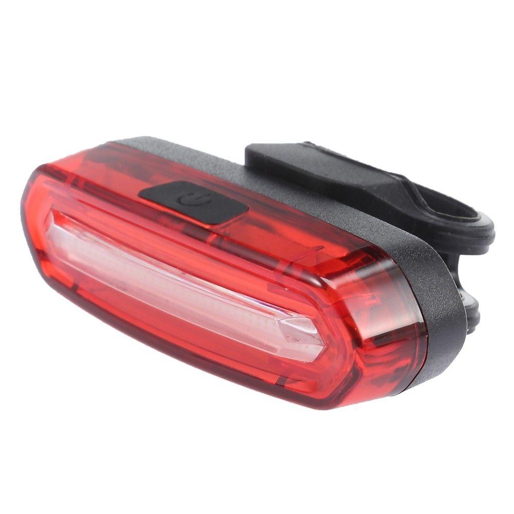 USB LED Bike Rear Kit Tail Light Rechargeable Bicycle Helmet Sport Red Lamp Set