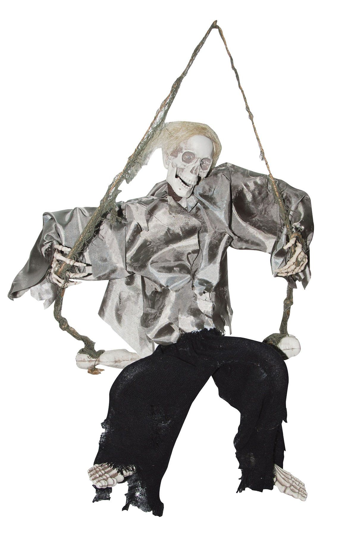 Kicking Reaper On A Swing Halloween props, Halloween