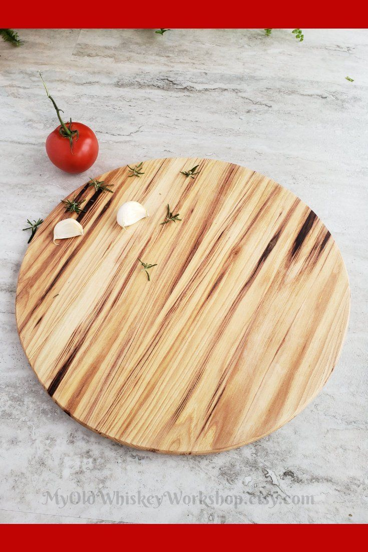 Round Pizza Serving Board 14 Inch Large Charcuterie Board