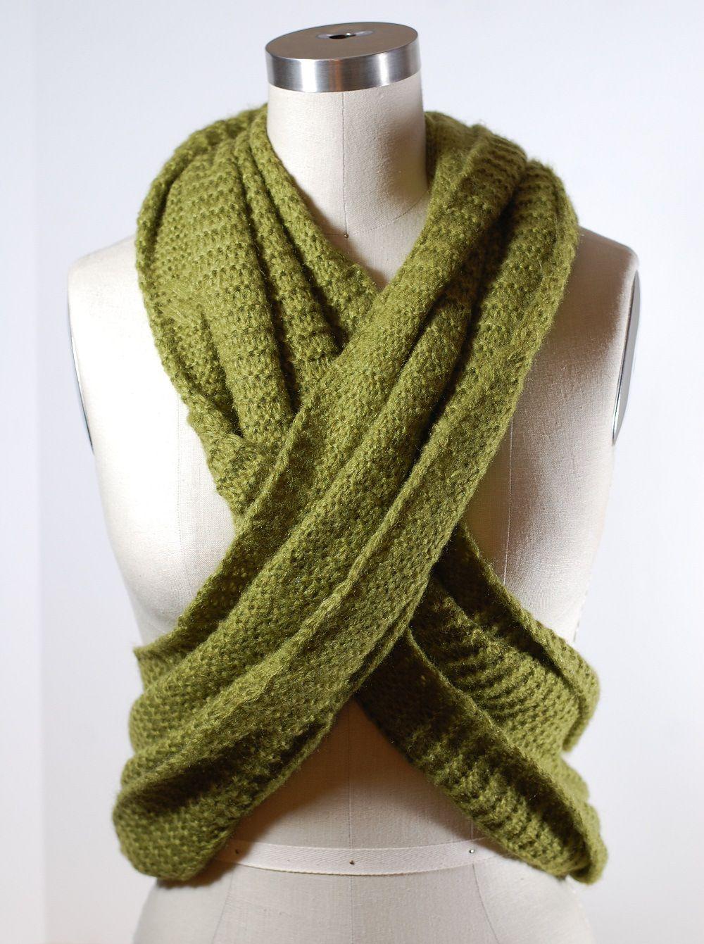 How to tie a scarf infinity scarf twist how to wear