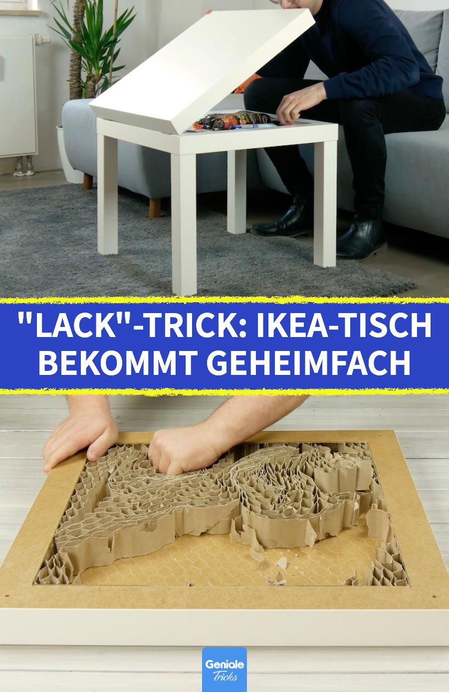"""Tisch selber bauen: Mit diesem DIY bekommt dein """"Lack"""" von IKEA ein praktisches Versteck"""