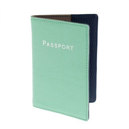 Fancy - Leather Colorblock Passport Case