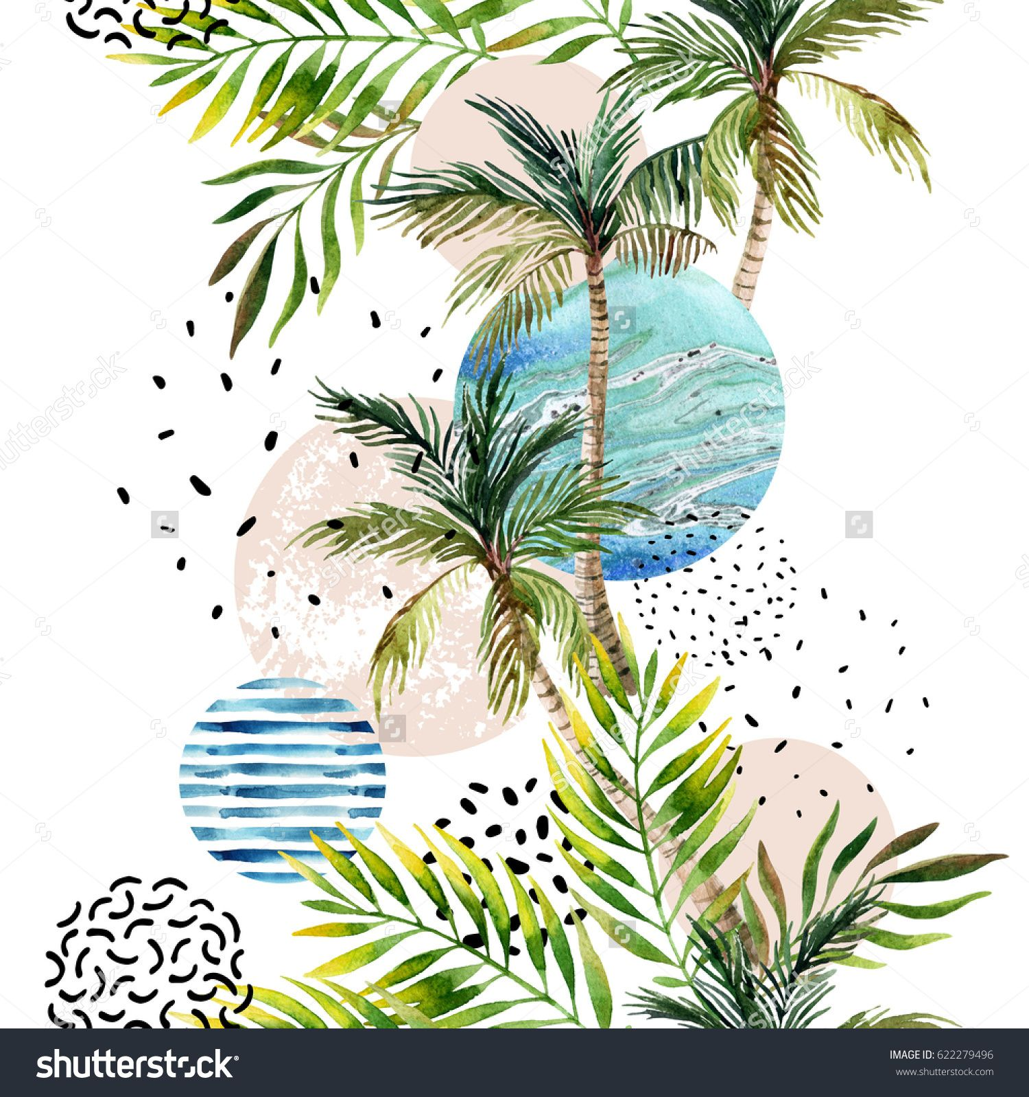 Abstract summer geometric background. Geometric shapes with ...