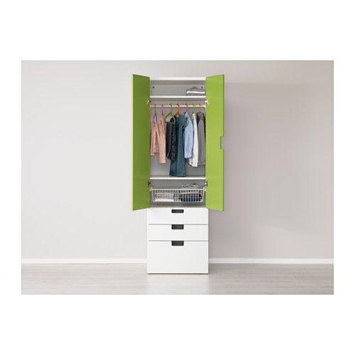 STUVA Storage combination w doors/drawers, white, green white/green ...