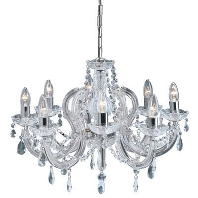 Searchlight 399-8 Marie Therese Chrome Chandelier