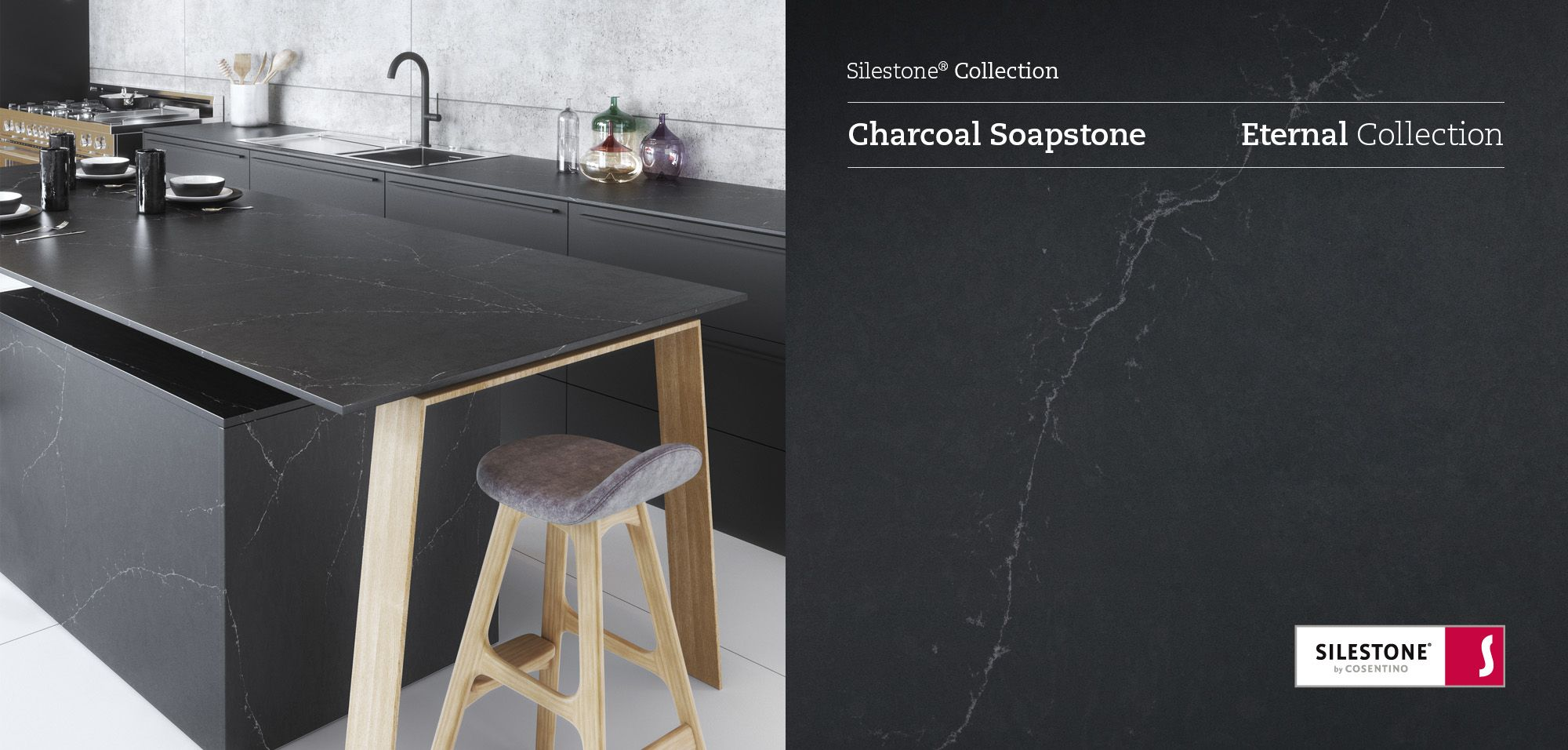 The new Silestone Charcoal Soapstone, part of the Eternal Series ...