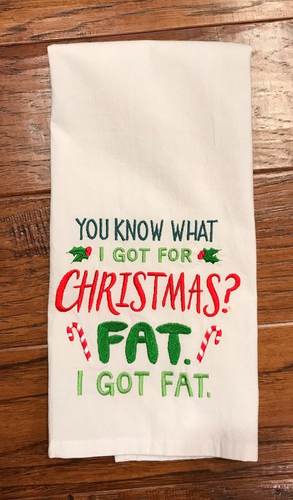 Christmas Tea Towel Funny Tea Towel Tea Towel Dish Towel Kitchen