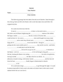 Worksheet Hatchet Worksheets 1000 images about classroom hatchet on pinterest cause and effect activities student centered resources