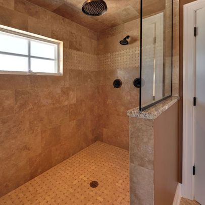 showers without doors design ideas, pictures, remodel and