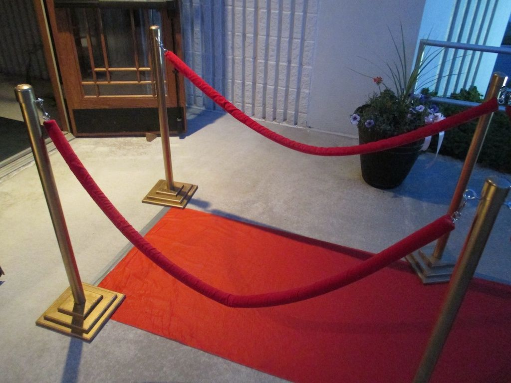 We Recently Put On A Red Carpet Event And Instead Of Buying Or Renting Those Fancy Stanchions And Ropes Red Carpet Ropes Diy Red Carpet Red Carpet Decorations