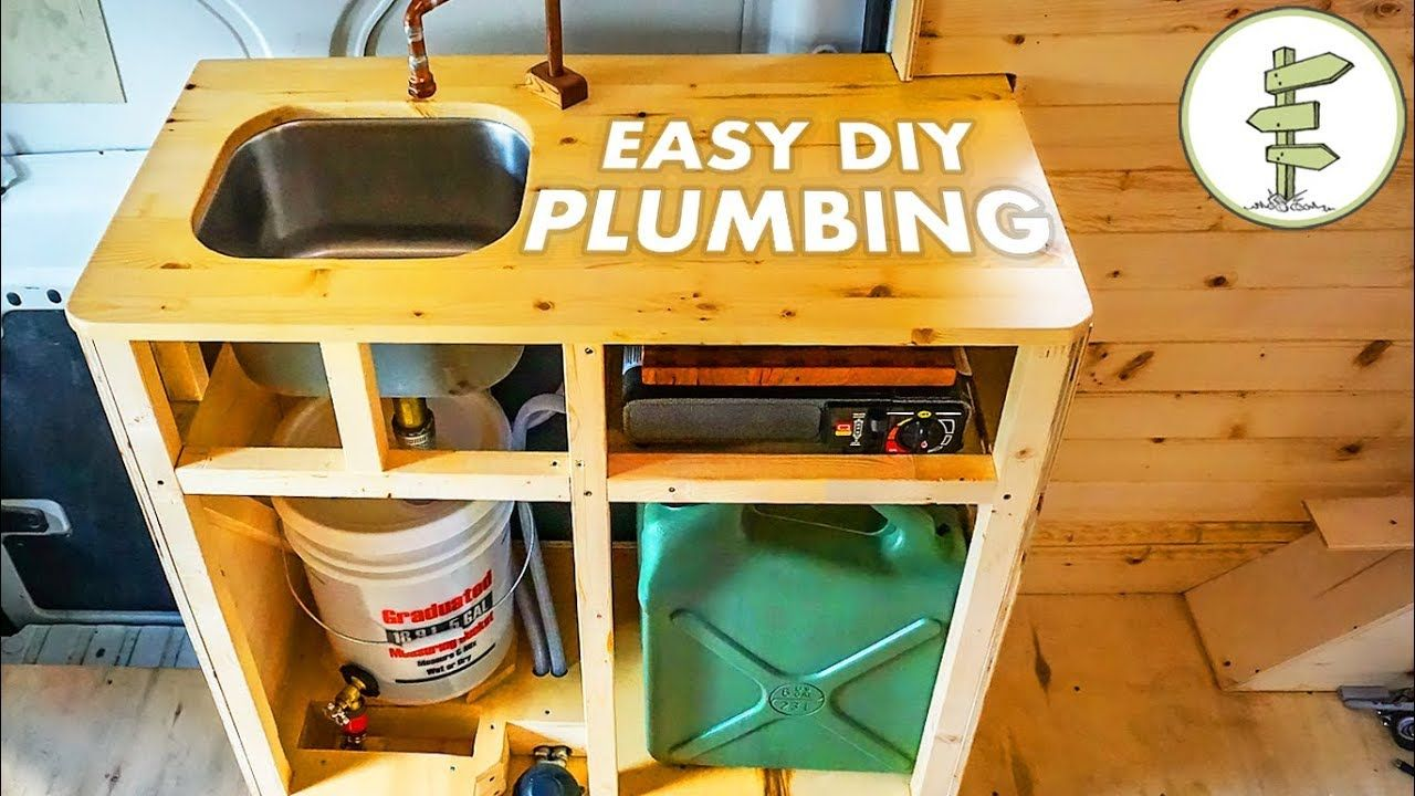 Cheap easy diy camper van plumbing system van life