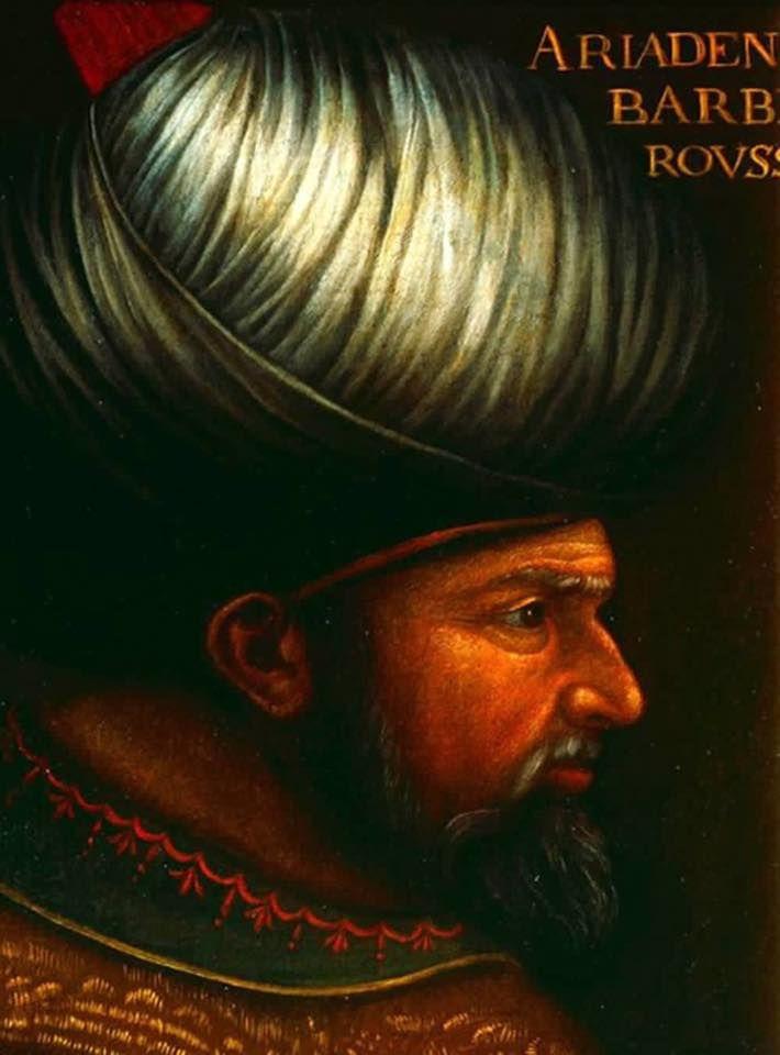 لوحة من القرن السابع عشر لخير الدين برباروسا قائد البحرية العثمانية
