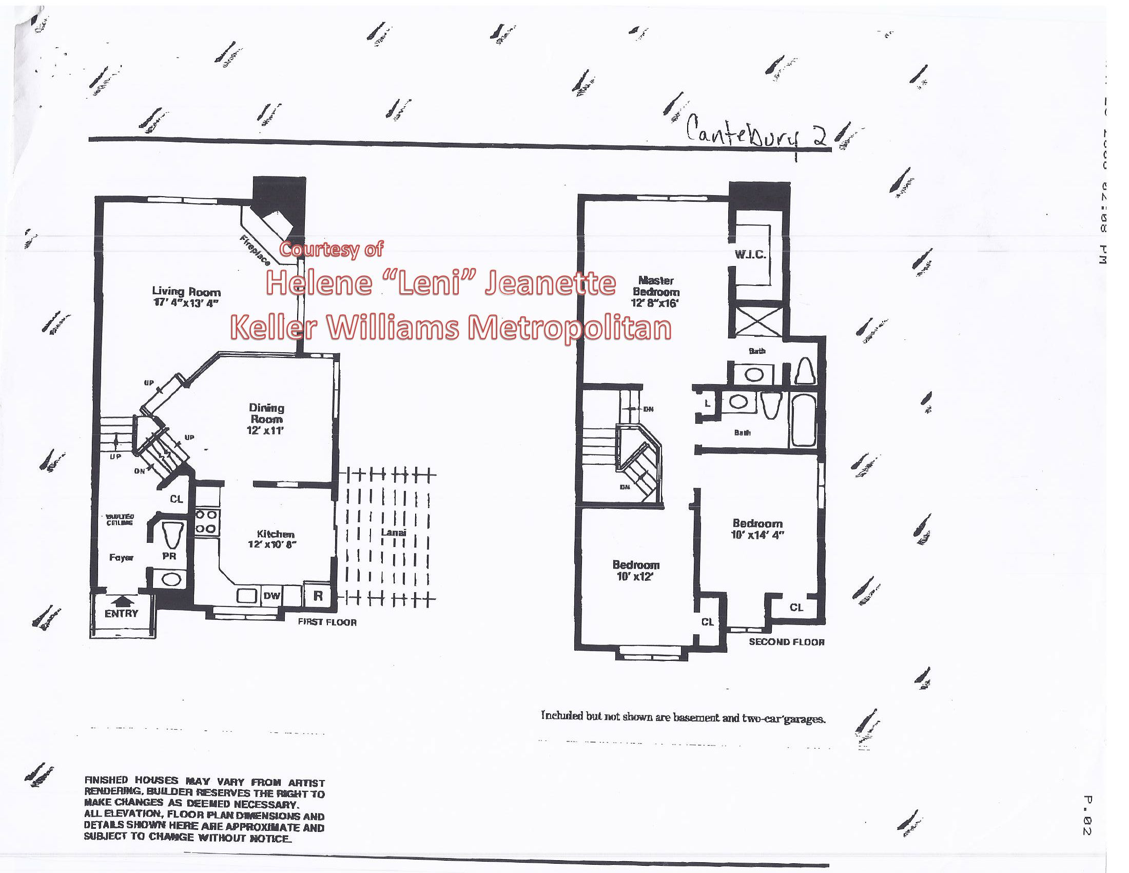 Floor Plan For Canterbury Ii Model