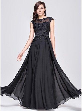 Vestido de fiesta largo color negro