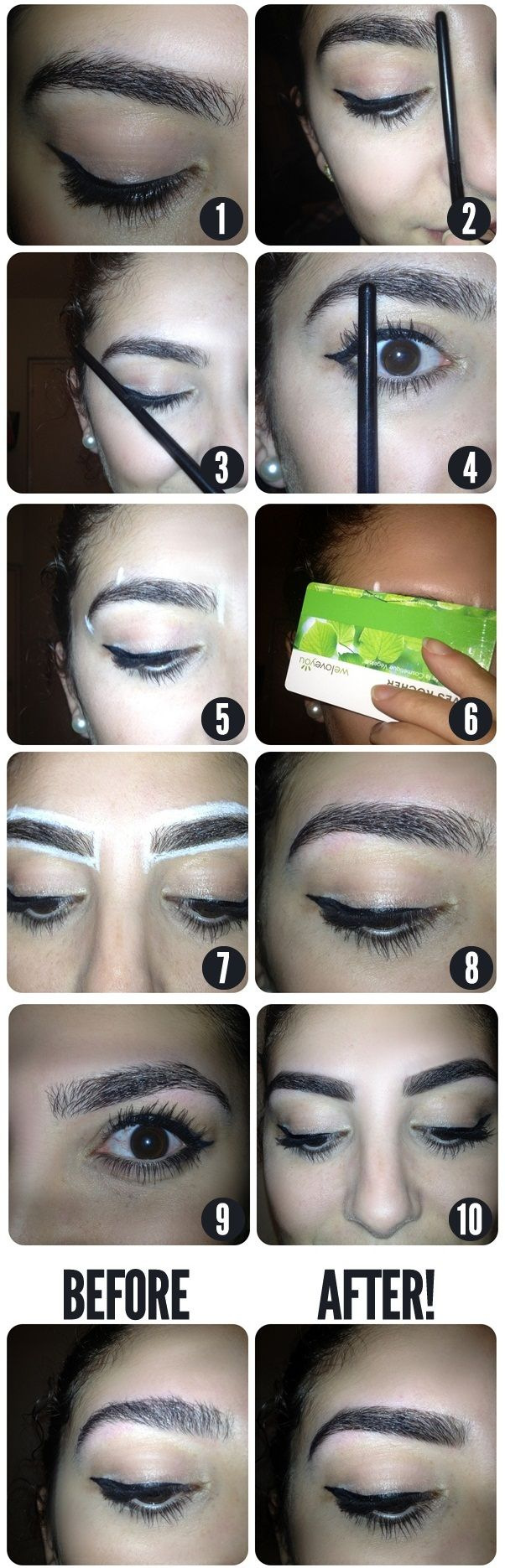 Trick for Perfect Looking Eyebrows