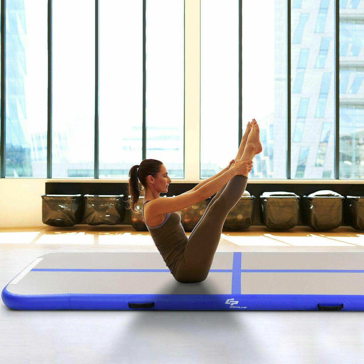 Goplus Inflatable Gymnastics Tumbling Mat Air Track Floor