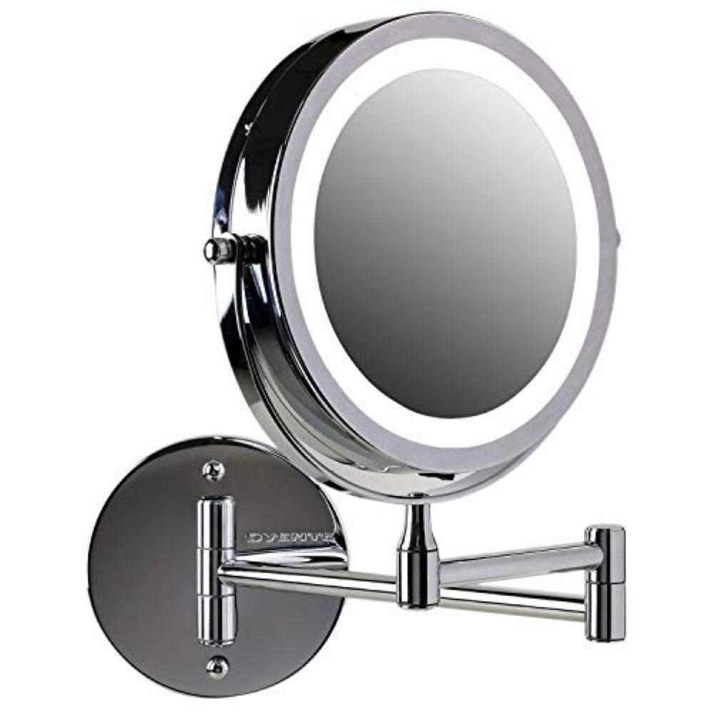 Ovente 7 In Polished Chrome Wall Mount Led Lighted Makeup Mirror