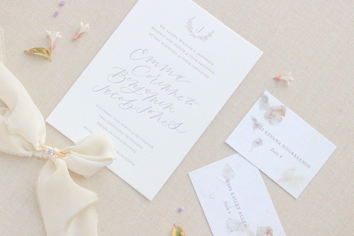 Wedding Invitations Dallas: Dallas Wedding Stationery Design // Emma + Ben: Semi