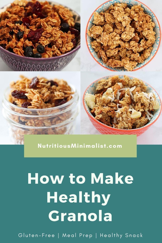 How To Make Granola 4 Ways Recipe Granola Healthy Granola Recipe Healthy How To Make Granola