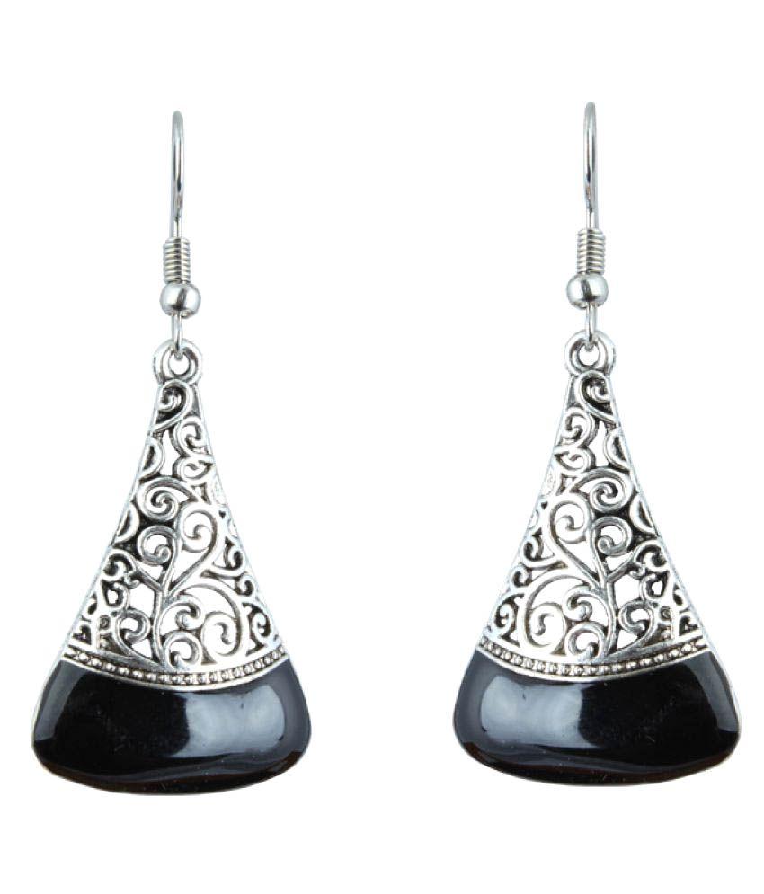 Waama Jewels Hanging Earring Silver Plated College Wear Oxidised ...