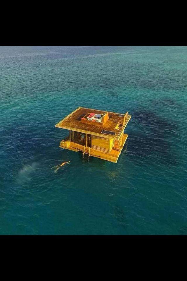 Hotel flotante en la Isla de Pemba, Tanzania