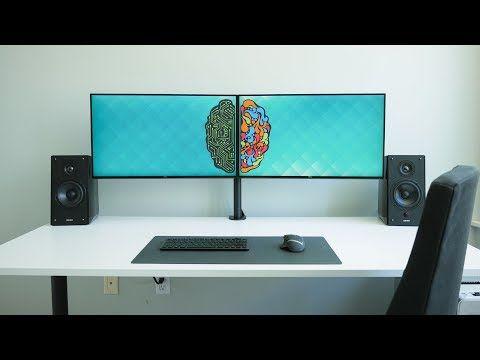 6 ultimate dual monitor desk setup youtube setups pinterest desk setup desk and. Black Bedroom Furniture Sets. Home Design Ideas