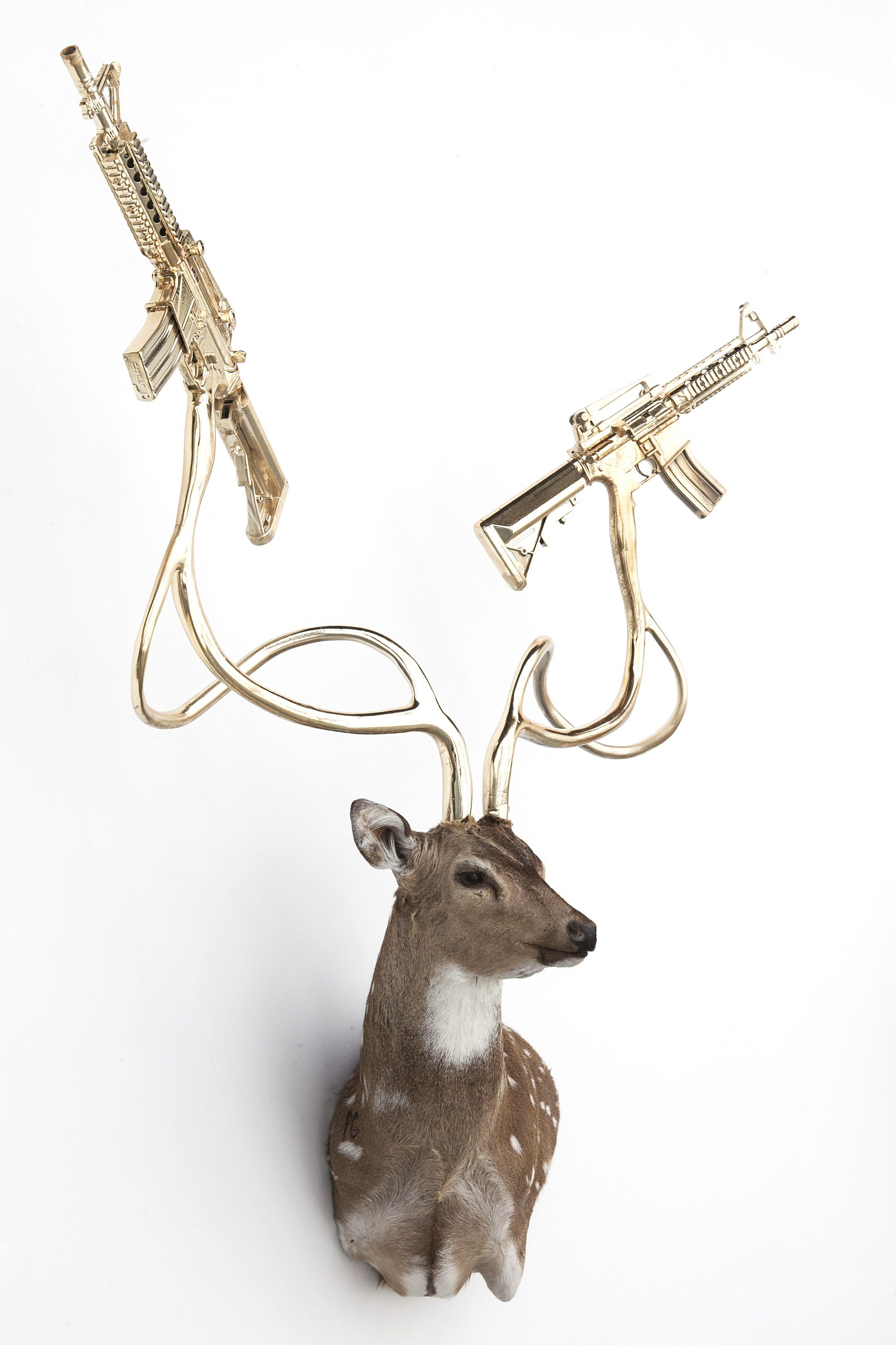 Untitled (Axis Deer) - Mixed media taxidermy Axis Deer sculpture ...
