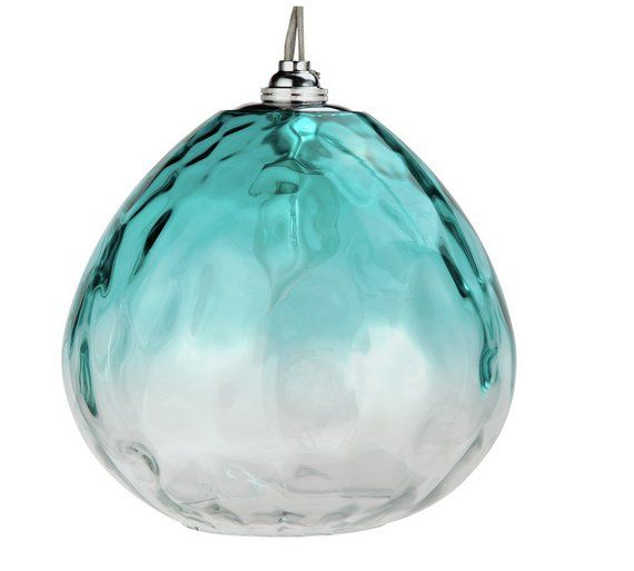 Buy heart of house rockford glass lampshade teal at argos buy heart of house rockford glass lampshade teal at argos aloadofball Images