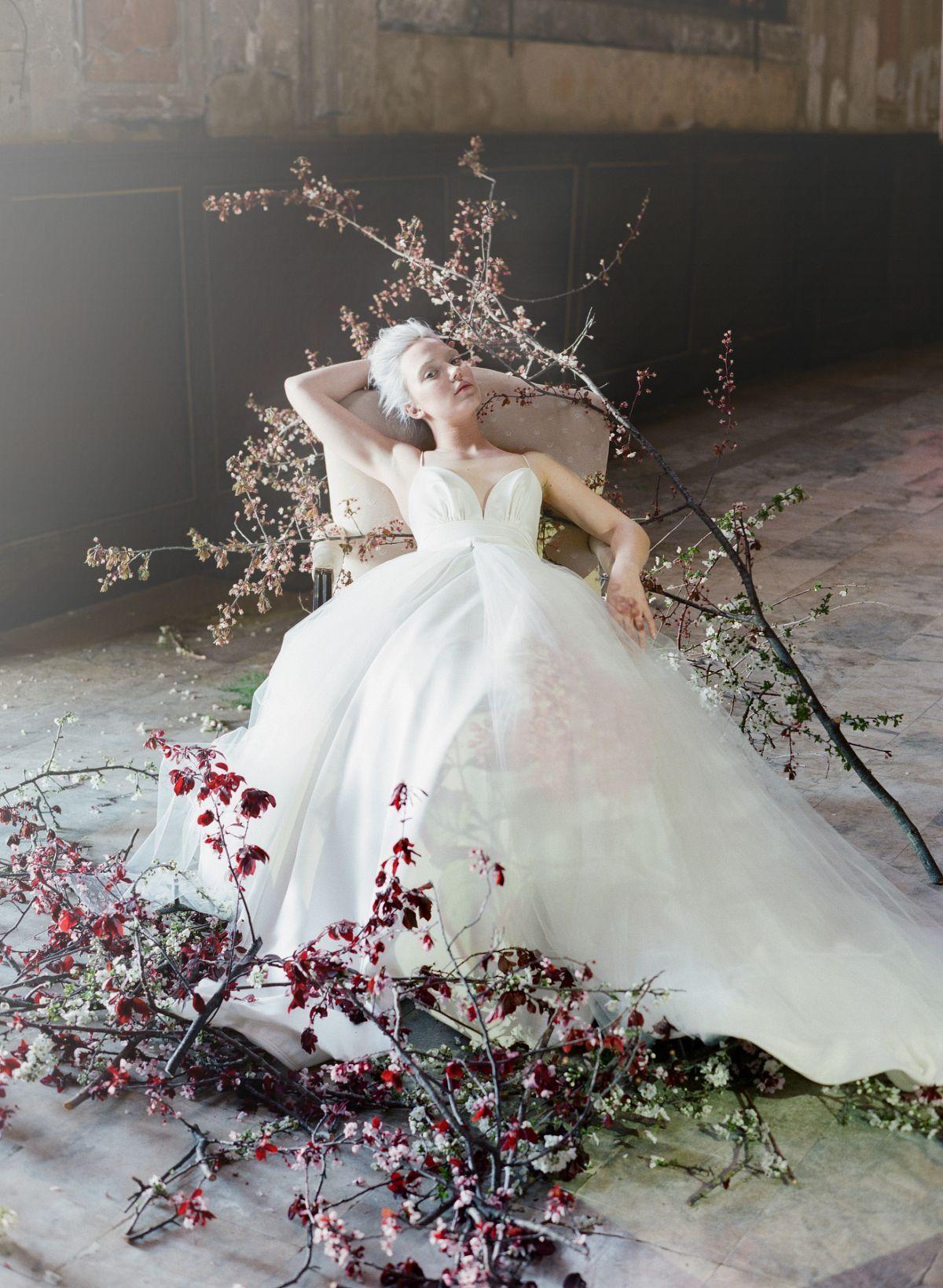 Abstract And Moody Bridal Inspiration: Abstract Art Wedding Dress At Websimilar.org