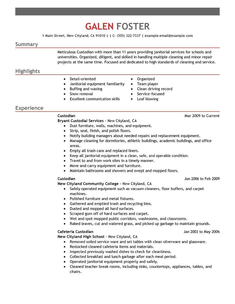 Best Cleaning Professionals Resume Example Livecareer Choose Resume Examples Professional Resume Examples Good Resume Examples