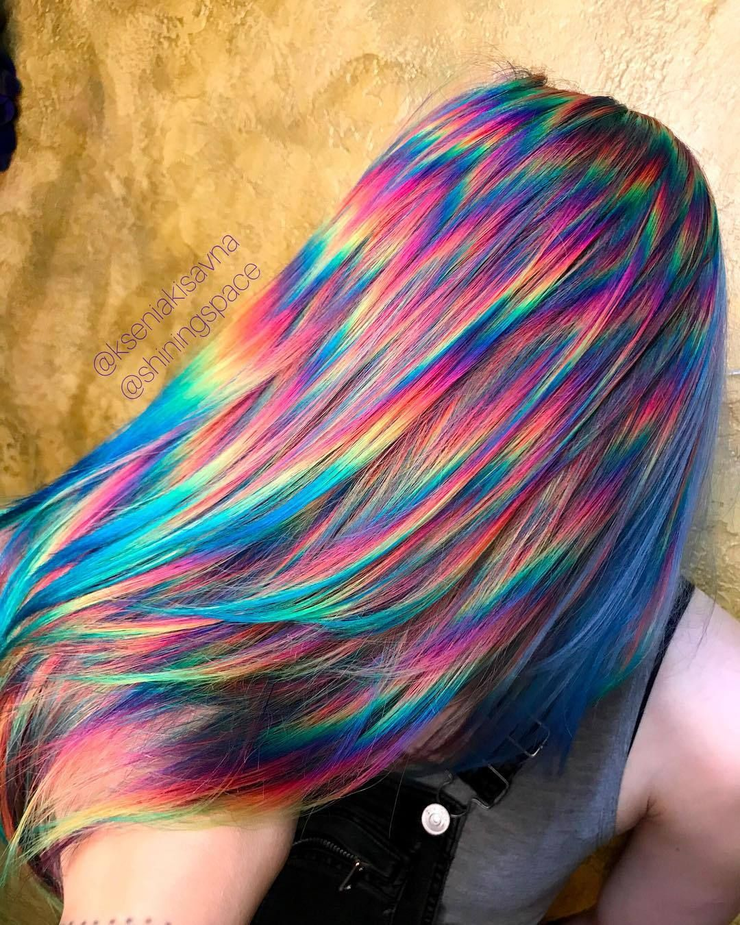 Won T Get It But Cool Holographic Hair Hair Styles Cool Hair Color
