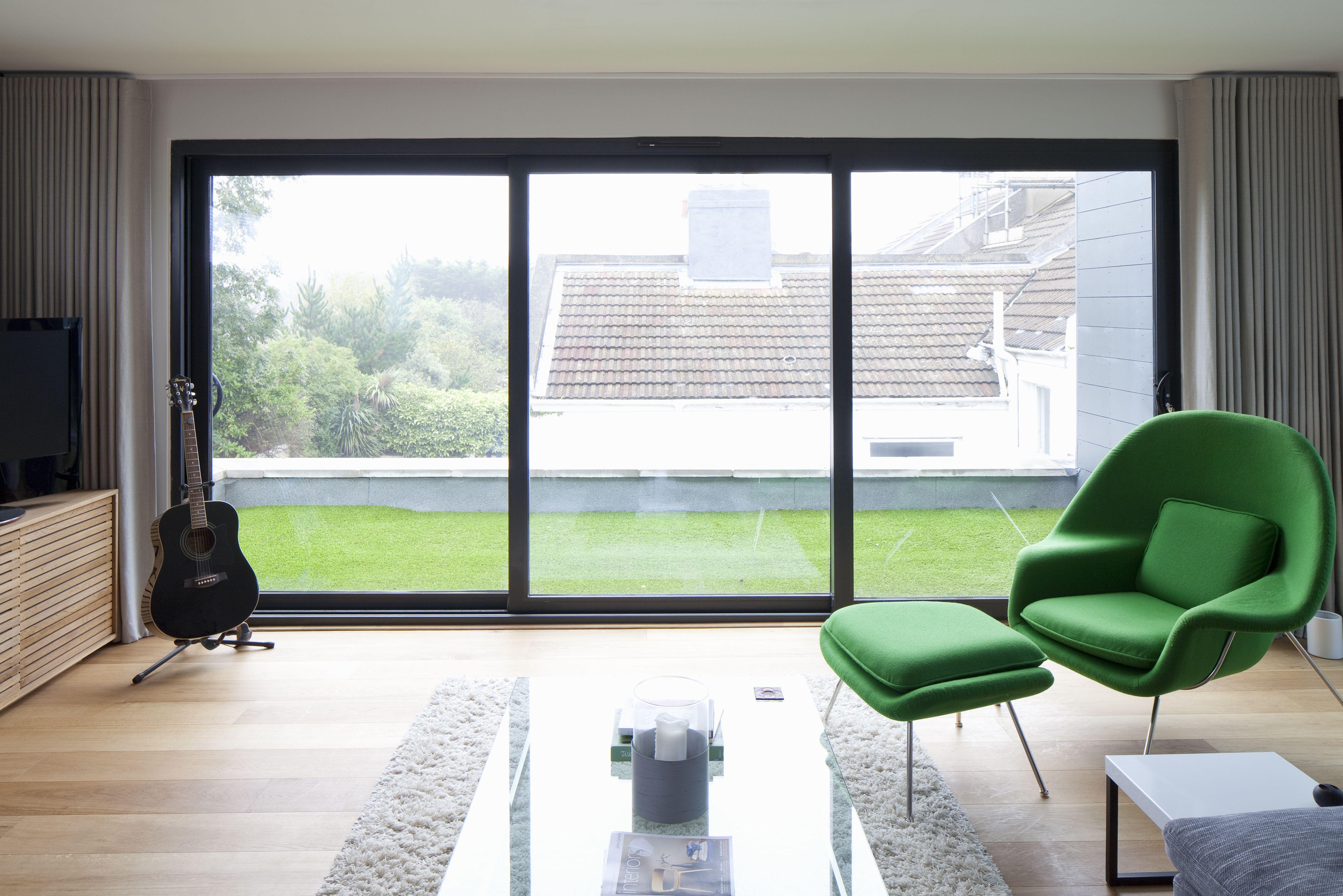 Design Balcony Door balcony roof terrace astro turf glass balustrade sliding doors