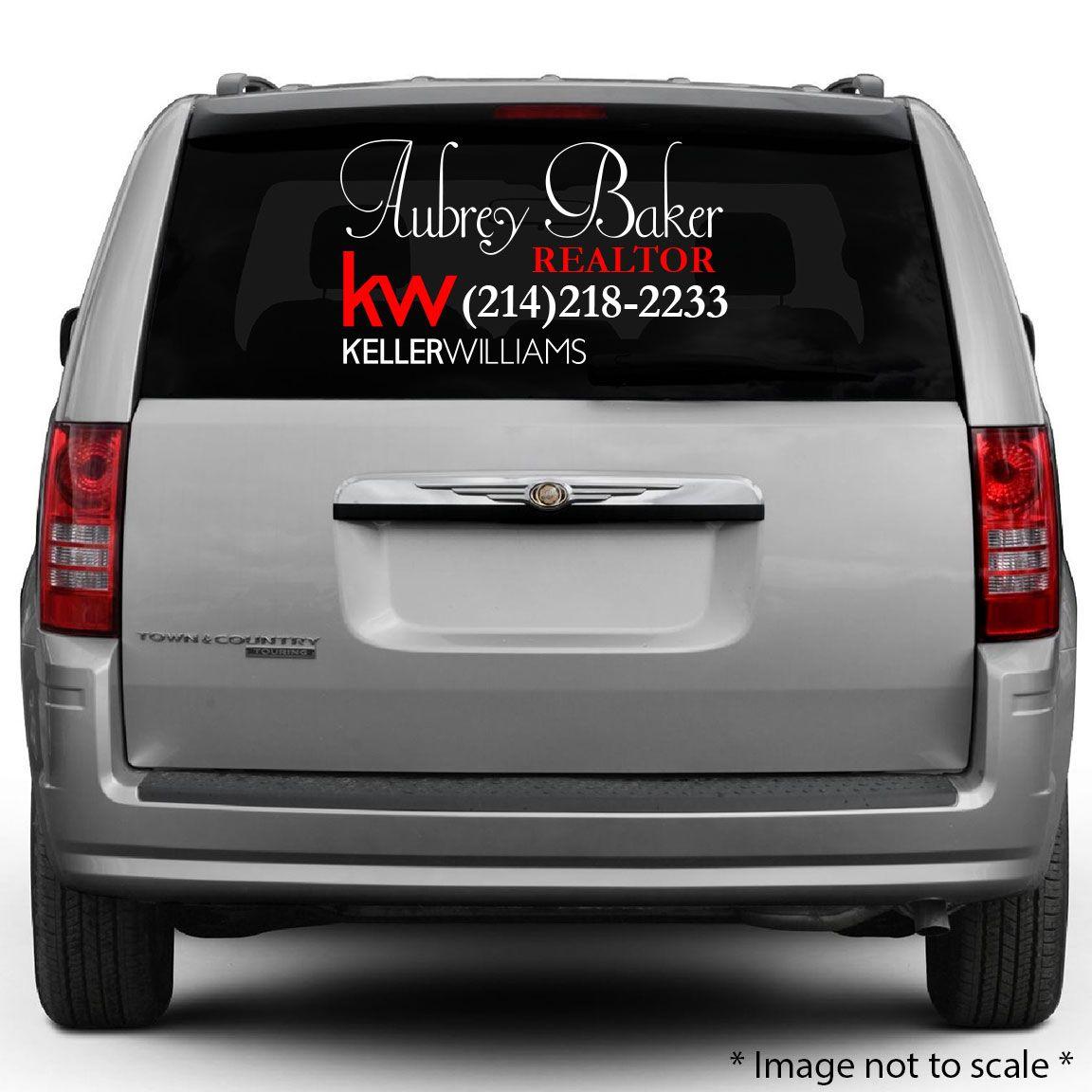 Aubrey Baker HttpsStickerTitanscom Rear - Custom car decals businesswindow decals