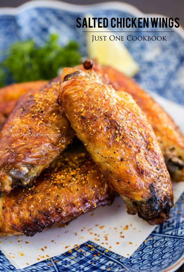 Japanese Salted Chicken Wings (Teba Shio)   Easy Japanese Recipes at JustOneCookbook.com