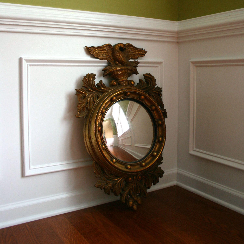 vintage federal style convex eagle mirror american americana