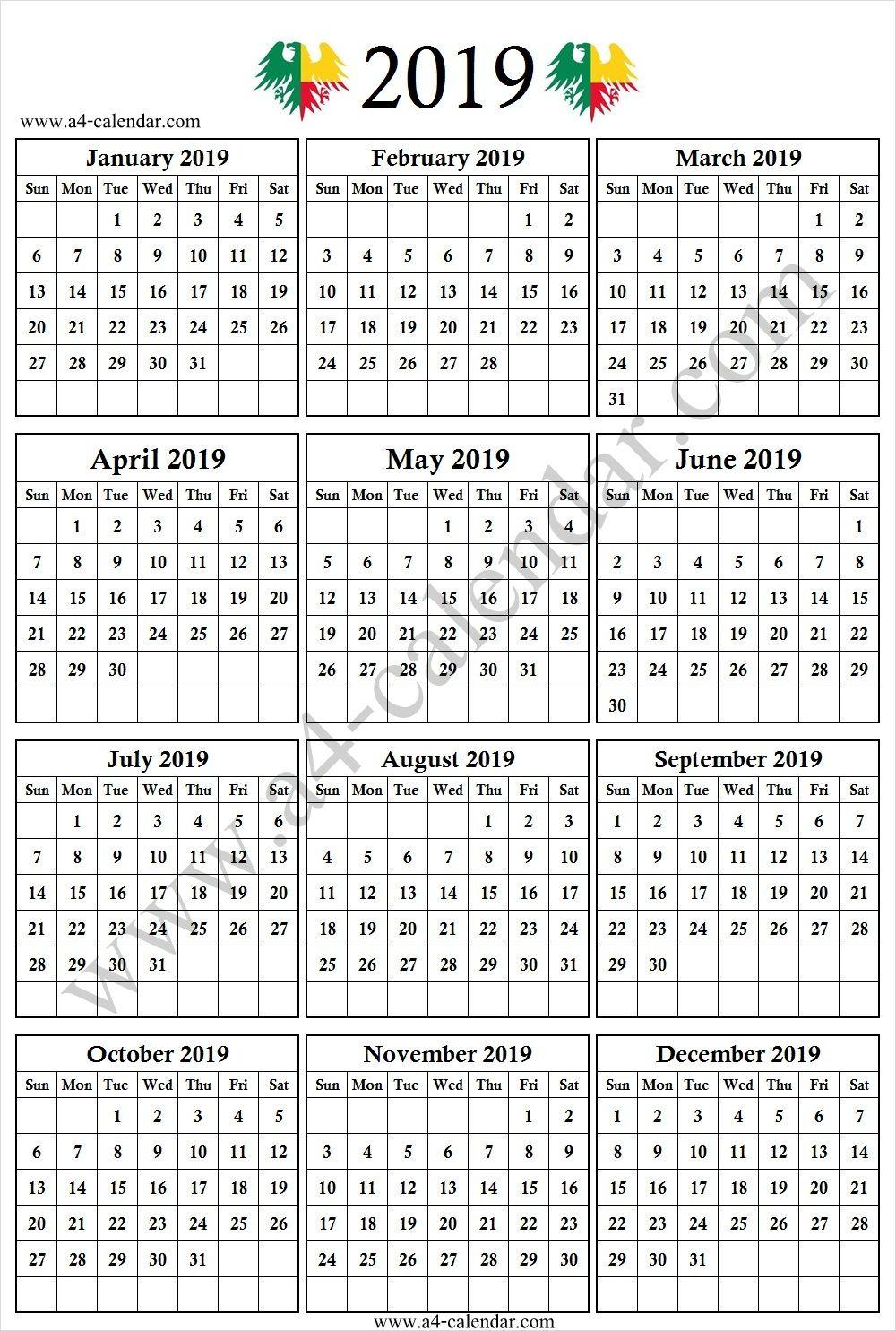 2019 South African School Holidays 2019 Calendar Editable Template