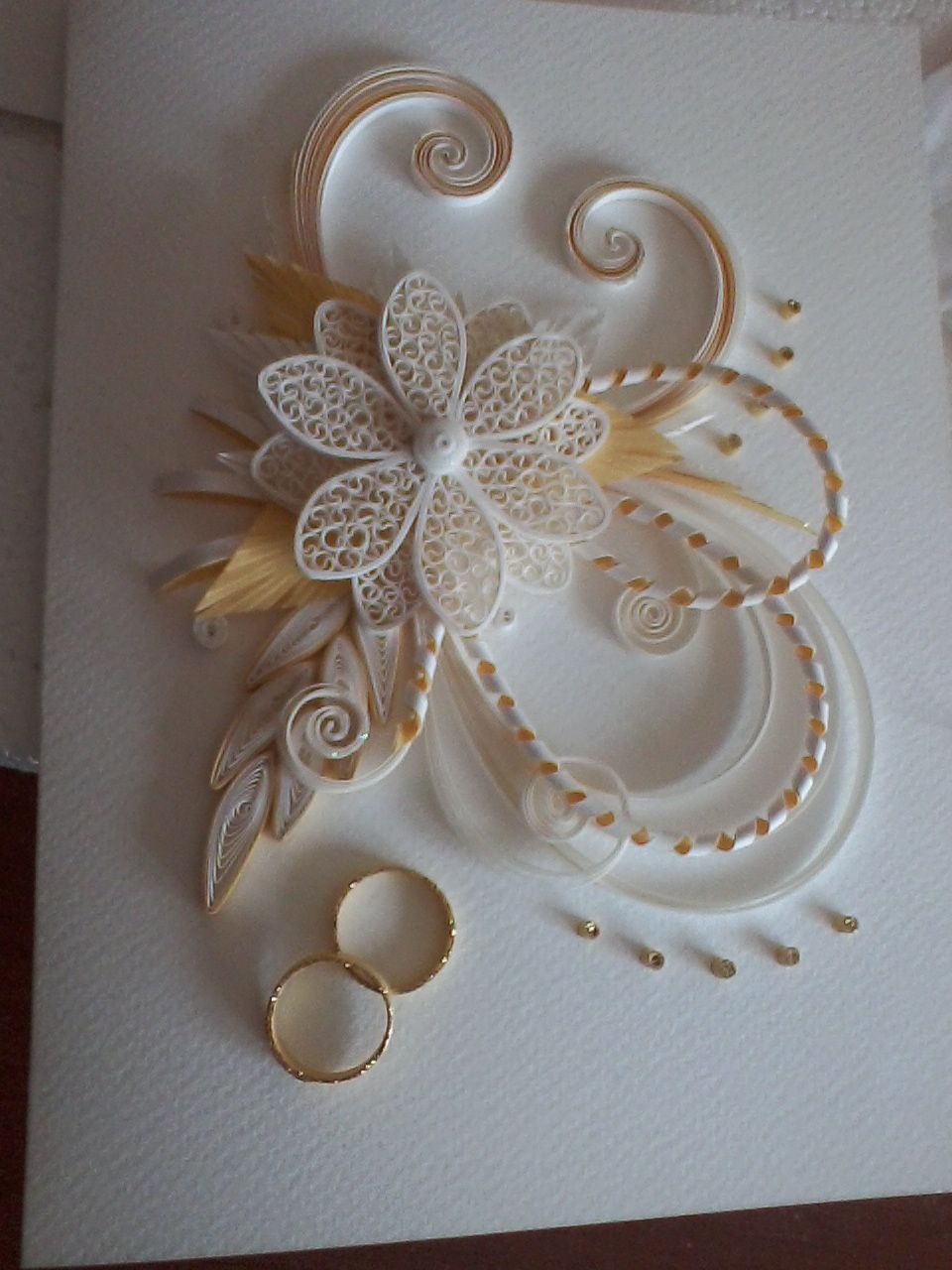 Wedding quilling card quilling pinterest quilling wedding and